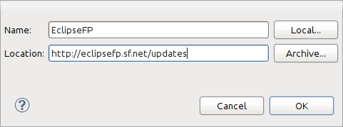 EclipseFP > Installation